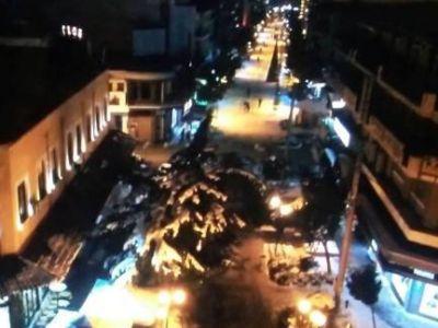 Μαγευτική η πόλη τών Σερρών με χιόνια