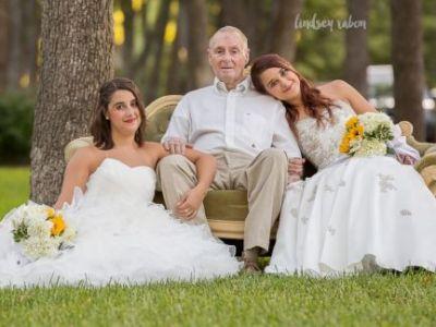Οι κόρες φόρεσαν νυφικά και φωτογραφήθηκαν με τον μπαμπά τους που έχει Αλτσχάιμερ χωρίς να ακολουθεί μυστήριο γάμου…